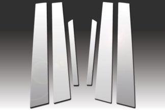Mirror Finish Stainless Steel Pillar Post 6-Pc 2006 - 2009 Ford Fusion