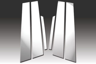 Mirror Finish Stainless Steel Pillar Post 6-Pc 2010 - 2012 Ford Fusion