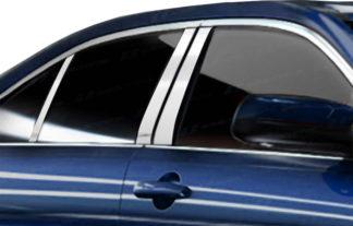 Mirror Finish Stainless Steel Pillar Post w/ Keypad Cut-out 6-Pc 2010 - 2016 Ford Taurus