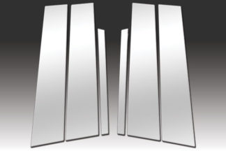 Mirror Finish Stainless Steel Pillar Post w/o Keypad Cut-out 6-Pc 2010 - 2016 Ford Taurus