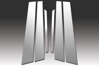 Mirror Finish Stainless Steel Pillar Post 6-Pc 2003 - 2007 Honda Accord-Sedan