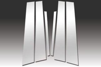 Mirror Finish Stainless Steel Pillar Post 6-Pc 2008 - 2012 Honda Accord-Sedan