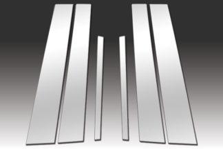 Mirror Finish Stainless Steel Pillar Post 6-Pc 2013 - 2016 Honda Accord-Sedan