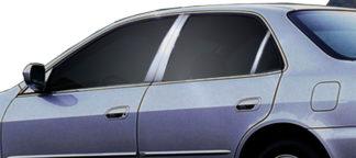 Carbon Fiber Edge Pillar Post 4-Pc 1998 - 2002 Honda Accord-Sedan