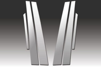 Mirror Finish Stainless Steel Pillar Post 6-Pc 1998 - 2002 Honda Accord-Sedan