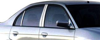 Mirror Finish Stainless Steel Pillar Post 6-Pc 2001 - 2005 Honda Civic-Sedan