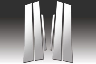 Mirror Finish Stainless Steel Pillar Post 6-Pc 2006 - 2011 Honda Civic-Sedan