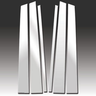 Mirror Finish Stainless Steel Pillar Post 6-Pc 2003 - 2008 Honda Pilot