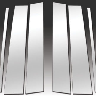 Mirror Finish Stainless Steel Pillar Post 6-Pc 2009 - 2015 Honda Pilot