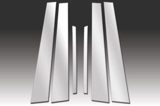 Mirror Finish Stainless Steel Pillar Post 6-Pc 2006 - 2010 Hyundai Sonata