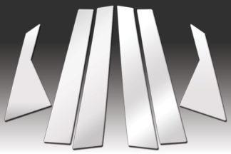 Mirror Finish Stainless Steel Pillar Post 6-Pc 2011 - 2014 Hyundai Sonata
