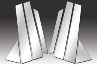 Mirror Finish Stainless Steel Pillar Post w/ Diagonal Post 8-Pc 2010 - 2015 Hyundai Tucson