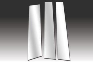 Mirror Finish Stainless Steel Pillar Post 3-Pc 2012 - 2016 Hyundai Veloster