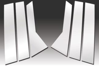 Mirror Finish Stainless Steel Pillar Post 6-Pc 2007 - 2012 Hyundai Veracruz