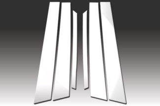 Mirror Finish Stainless Steel Pillar Post 6-Pc 2006 - 2010 Infiniti M-Series