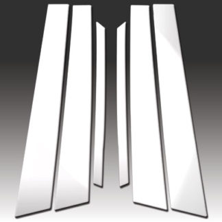 Mirror Finish Stainless Steel Pillar Post 6-Pc 2006 - 2010 Infiniti M-Series
