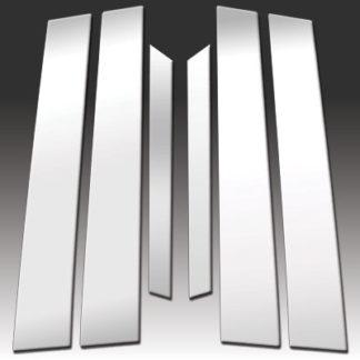 Q70) Mirror Finish Stainless Steel Pillar Post 6-Pc 2011 - 2013 Infiniti M-Series(14-16