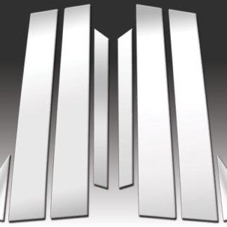 Q70) Mirror Finish Stainless Steel Pillar Post 8-Pc 2011 - 2013 Infiniti M-Series(14-16