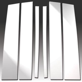 Mirror Finish Stainless Steel Pillar Post 6-Pc 2004 - 2010 Infiniti QX56