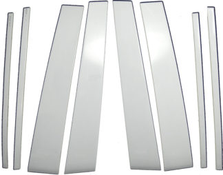 Mirror Finish Stainless Steel Pillar Post 6-Pc 2011 - 2013 Infiniti QX56/14-16QX80