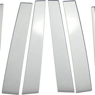Mirror Finish Stainless Steel Pillar Post 6-Pc 2011 - 2013 Infiniti QX56/14-16QX80