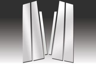 Mirror Finish Stainless Steel Pillar Post 6-Pc 2004 - 2008 Jaguar S-Type