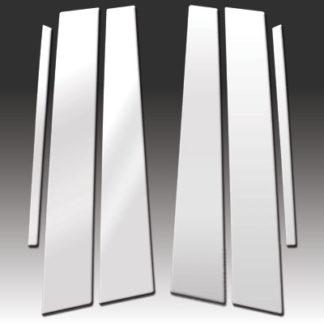 Mirror Finish Stainless Steel Pillar Post 6-Pc 1999 - 2003 Jaguar S-Type