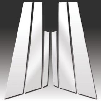 Mirror Finish Stainless Steel Pillar Post 6-Pc 2008 - 2015 Jaguar XF-Series