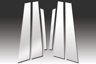 Mirror Finish Stainless Steel Pillar Post 6-Pc 2003 - 2009 Jaguar XJ-Series
