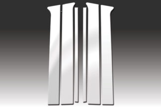 Mirror Finish Stainless Steel Pillar Post 6-Pc 2002 - 2007 Jeep Liberty