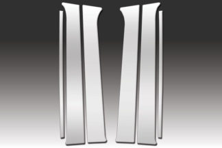 Mirror Finish Stainless Steel Pillar Post 6-Pc 2008 - 2012 Jeep Liberty