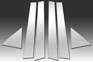 Mirror Finish Stainless Steel Pillar Post 6-Pc 2010 - 2013 Kia Forte-Hatchback
