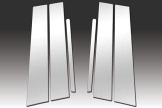Mirror Finish Stainless Steel Pillar Post 6-Pc 2011 - 2016 Kia Sportage
