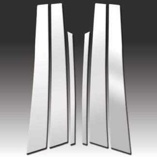 Mirror Finish Stainless Steel Pillar Post 6-Pc 2001 - 2006 Lexus LS-Series