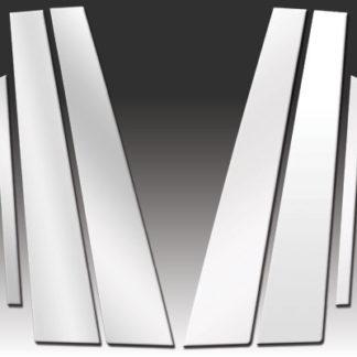 Mirror Finish Stainless Steel Pillar Post 6-Pc 2007 - 2016 Lexus LS-Series