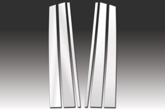Mirror Finish Stainless Steel Pillar Post 6-Pc (97-07 LX-Series) 2004 - 2007 Lexus LX-Series