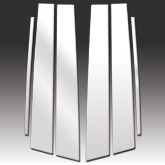 Mirror Finish Stainless Steel Pillar Post 6-Pc 2004 - 2009 Lexus RX330