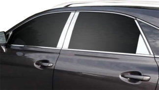 Mirror Finish Stainless Steel Pillar Post w/ Triangle Post 8-Pc 2010 - 2015 Lexus RX350