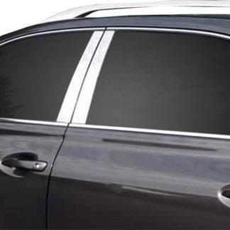 Mirror Finish Stainless Steel Pillar Post w/ Triangle Post 8-Pc 2010 - 2015 Lexus RX350