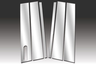Mirror Finish Stainless Steel Pillar Post w/ Keypad Cut-Out 6-P 2003 - 2009 Lincoln Aviator