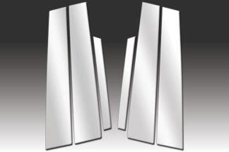 Mirror Finish Stainless Steel Pillar Post 6-Pc 2000 - 2006 Lincoln LS