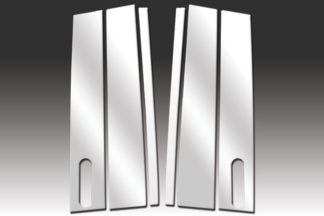 Mirror Finish Stainless Steel Pillar Post w/ Keypad Cut-Out 6-Pc 2009 - 2016 Lincoln MKS