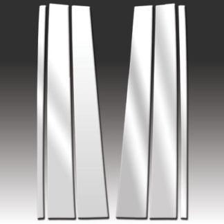 Mirror Finish Stainless Steel Pillar Post 6-Pc 1998 - 2016 Lincoln Navigator