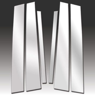 Mirror Finish Stainless Steel Pillar Post 6-Pc (Rear Piece does not fit Signature-Limited model) 1998 - 2002 Lincoln Town-Car