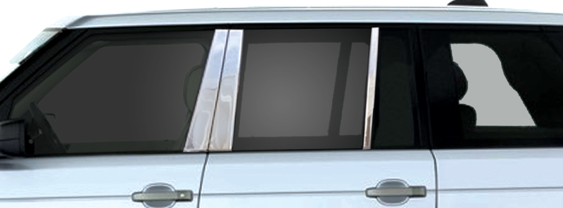 HSE Mirror Finish Stainless Steel Pillar Post 6-Pc 2003 - 2012 Land Rover Range-Rover