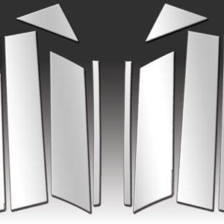 Mirror Finish Stainless Steel Pillar Post w/ Diagonal & Mirror Post 10-Pc 2013 - 2016 Mazda CX-5
