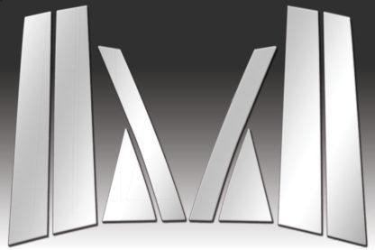 Mirror Finish Stainless Steel Pillar Post 8-Pc 2007 - 2012 Mazda CX-7