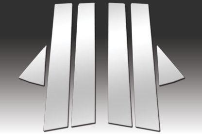 Mirror Finish Stainless Steel Pillar Post 6-Pc 2011 - 2015 Mazda Mazda2