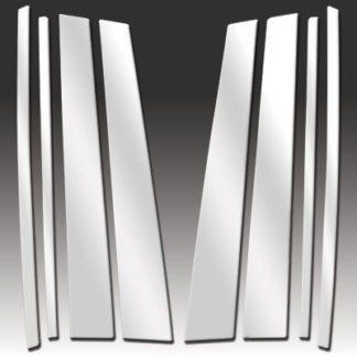 Mirror Finish Stainless Steel Pillar Post 8-Pc 2003 - 2008 Mazda Mazda6-Wagon