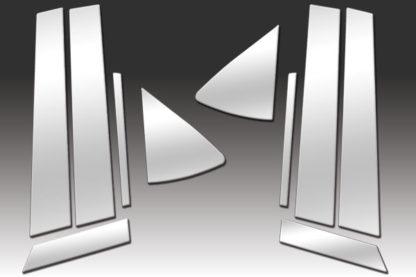 Mirror Finish Stainless Steel Pillar Post 10-Pc 2009 - 2013 Mazda Mazda6-Sedan